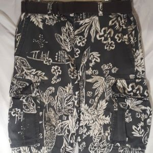H&M Hawaiian Cargo Shorts